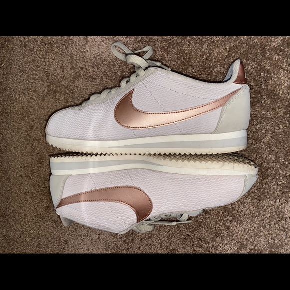 Nike Shoes | Nike Cortez Beige And Rose
